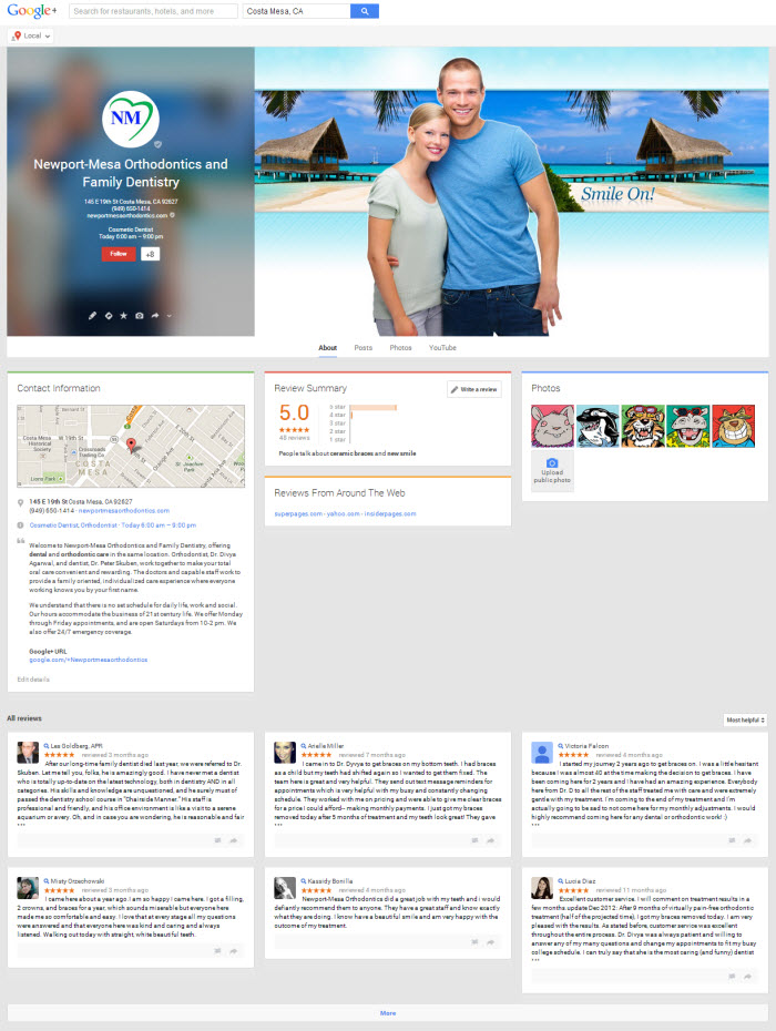 Google Plus Local Page 2013